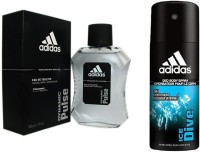 Adidas Lavish Life Combo's In Dynamic Pulse EDT & Ice Dive Deo Body Spray  -  For Boys, Men (250 Ml)