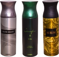 AJMAL 1 SILVER SHADE::1 SACRIFICE II FOR HIM::1 AURUM Deodorant Spray  -  For Women (600 Ml)