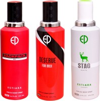 ESTIARA 1 BACKPACK RED::1 20 MEN::1 STAG WHITE Deodorant Spray  -  For Men, Women (600 Ml)