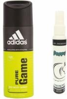 Adidas Adidas Pure Game Deo + Poppy Spray Freshener Cologne Free Deodorant Spray  -  For Boys, Girls, Men, Women (150 Ml)