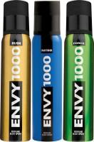 ENVY 1000 Force, Nitro & Rush Deo Combo (Pack Of 3) Body Spray  -  For Men (130 Ml)