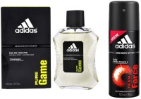 Adidas Lavish Life Combo In Pure Game EDT & Team Force Deo Body Spray  -  For Boys, Men (250 Ml)
