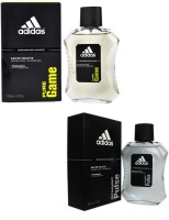 Adidas The EDT Combo's Pure Game & Dynamic Pulse Body Spray  -  For Boys, Men (200 Ml)