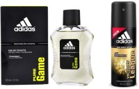 Adidas The Pure Game EDT & Victory League Deo Combo Body Spray  -  For Boys, Men (250 Ml)