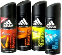 Adidas Assorted Flavours Deodorant Spray  -  For Men (150 Ml)