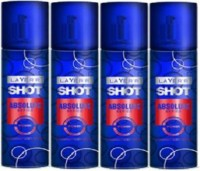Layer'r Layer'r Shot Power Deodorant Spray - For Men, Boys (Pack Of 4) Body Spray  -  For Men (135 Ml)