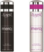 Sapil Merci Men & Women Combo Set Of 2pcs Body Spray  -  For Men (200 Ml)