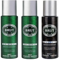 Brut Deo Combo 2 Original & 1 Musk Body Spray  -  For Men (200 Ml)