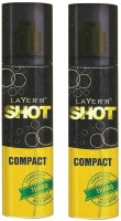 Layer'r Shot Compact Turbo Body Spray (Pack Of 2) Body Spray  -  For Men (120 Ml)