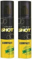 Layer'r Shot Compact Turbo Body Spray (Pack Of 2) Body Spray  -  For Men (120 Ml)