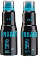 Engage Combo Of 2 Mate Deodorant Spray  -  For Men (150 Ml)
