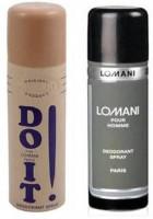 Lomani (Do It And Pour Homme) Deodorant Men 200ml Body Spray  -  For Boys (400 Ml)