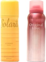 Lomani Slora And Original Deodorant Spray  -  For Girls (300 Ml)