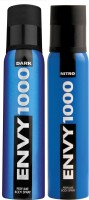 ENVY 1000 Dark & Nitro Deo Combo (Pack Of 2) Body Spray  -  For Men (130 Ml)