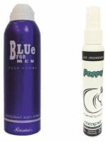 Rasasi Rasasi Blue Deo + Poppy Spray Freshener Cologne Free Deodorant Spray  -  For Boys, Girls, Men, Women (200 Ml)