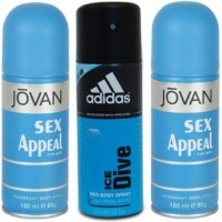 Jovan Sex Appeal And Ice Dive Body Spray  -  For Boys, Men (450 Ml)