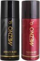 Mezno Fragrance Deodorant Combo Of 2 Body Spray  -  For Men (150 Ml)
