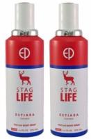 ESTIARA STAG LIFE PERFUME BODY SPRAY FOR MEN 200 ML (1+1) Body Spray  -  For Men (400 Ml)
