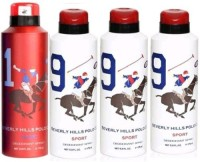 Beverly Hills Polo Club Sport 1 And 9 Combo Set Of 4 Body Spray  -  For Boys, Men (700 Ml)