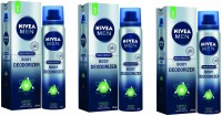 Nivea Energy Deodorant Pack Of 3 Body Spray  -  For Men (120 Ml)