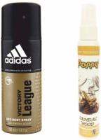 Adidas Adidas Victory League Deo + Poppy Spray Freshener Sandalwood Free Deodorant Spray  -  For Boys, Girls, Men, Women (150 Ml)
