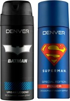 Denver Batman Urban Legend And Superman Power Deo Combo (Pack Of 2) Deodorant Spray  -  For Men (150 Ml)