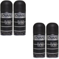Jovan Live It Combo's In Men's Deo The Black Musk Body Spray  -  For Boys, Men (150 Ml)
