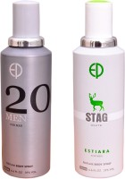 ESTIARA 1 20 MEN::1 STAG WHITE Deodorant Spray  -  For Men (400 Ml)