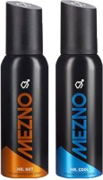 Mezno Fragrance Deodorant No Gas Deo- Pack Of 2 Body Spray  -  For Men (120 Ml)