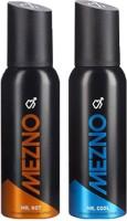 Mezno Fragrance Deodorant No Gas Deo- Pack Of 2 Body Spray  -  For Men (120 Ml)
