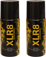 XLR8 2 Activ Deodorant Spray  -  For Men, Women (300 Ml)