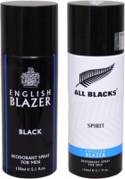 English Blazer 1 ALL BLACKS::1 BLACK Deodorant Spray  -  For Men (200 G)