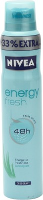 Buy Nivea Energy Fresh Deodorant Spray  -  200 ml: Deodorant