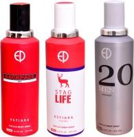 ESTIARA 1 BACKPACK RED::1 STAG LIFE::1 20 MEN Deodorant Spray  -  For Men, Women (600 Ml)