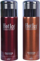 Hot Ice Deodorant Body Spray  -  For Men, Women (400 Ml)