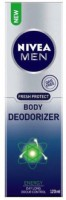 Nivea Fresh Protect Gas Free Body Deodorizer Energy Deodorant Spray  -  For Men (120 Ml)