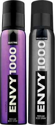 ENVY 1000 Electric & Magnetic Deo Combo (Pack Of 2) Body Spray  -  For Men (130 Ml)
