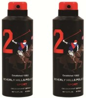 Beverly Hills Polo Club Combo Deodorants No.2X2 Body Spray  -  For Men (350 Ml)