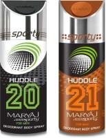 Maryaj Pack Of 2 (Huddle 20+21) Body Spray  -  For Men (150 Ml)