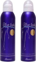 Rasasi Blue Lady Deodorant For Women Set Of 2 Perfume Body Spray  -  For Women (400 Ml)