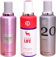 ESTIARA 1 VALERIE CRYSTAL::1 STAG LIFE::1 20 MEN Deodorant Spray  -  For Men, Women (600 Ml)
