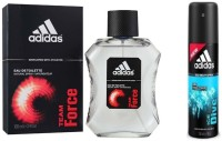 Adidas The Team Force EDT & Ice Dive Deo Combo Body Spray  -  For Boys, Men (250 Ml)