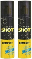 Layer'r Shot Compact Impact Body Spray (Pack Of 2) Body Spray  -  For Men (120 Ml)
