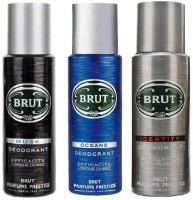 Brut Musk Ocean & Identity Body Spray  -  For Men (200 Ml)