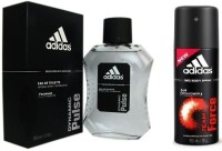 Adidas The Dynamic Pulse EDT & Team Force Deo Combo Body Spray  -  For Boys, Men (250 Ml)