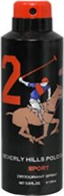 Beverly Hills Polo Club Sport 2 Deodorant Spray  -  175 Ml - For Men