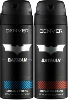 Denver Batman Urban Legend And Knight Warrior Deo Combo (Pack Of 2) Deodorant Spray  -  For Men (150 Ml)