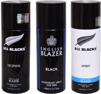 English Blazer 1 LEGENDS::1 BLACK::1 ALL BLACKS Deodorant Spray  -  For Men (300 G)