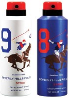 Beverly Hills Polo Club Combo Deodorants No 8 & 9 Body Spray  -  For Men (350 Ml)