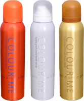 COLOR ME 1 MUSK::1 WHITE::1 HOMME GOLD DEO Deodorant Spray  -  For Men (300 G)